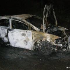 Ďalšie auto v plameňoch! Pri Tepličkách zhorel SEAT