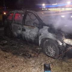 Požiar auta v Šulekove
