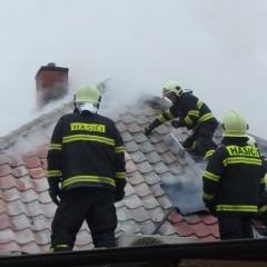 Požiar rodinného domu v Leopoldove